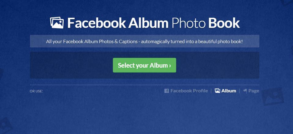 how do i import photos from a facebook album pastbook help center